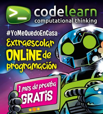 Recursos educativos para aprender desde casa: Codelearn ofrece un mes de prueba de su método online